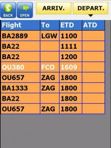 PDA Flight List